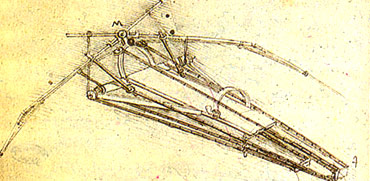Leonardo's design for a flying machine